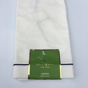 Kate Spade NAPKIN laurel drive FRENCH NAVY cream